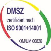 Siegel - Zertifizierung nach DIN 9001 + 14001